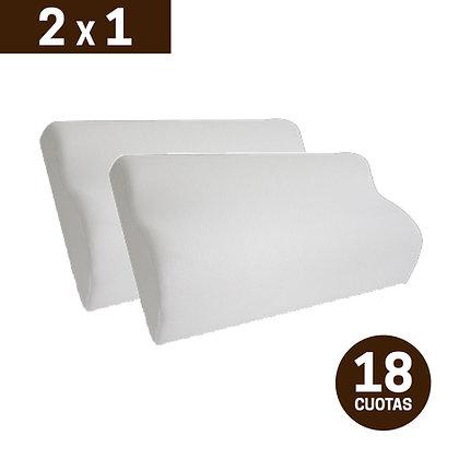 Promo 2x1 (60x40) Almohadas Inteligentes Cervicales Viscoelásticas