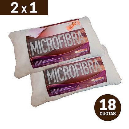 Promo 2x1 Almohadas PoliPluma Microfibra