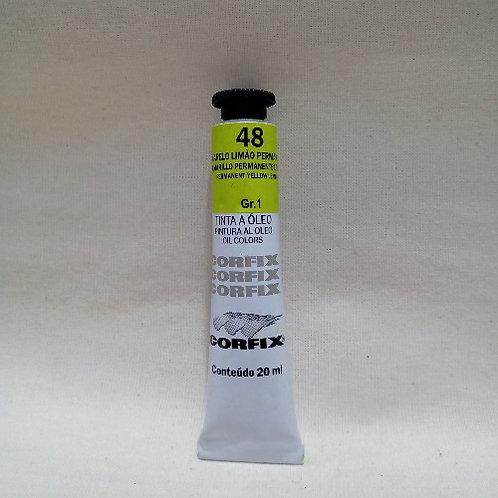 Tinta a Óleo Amarelo Limão Permanente 20 ml