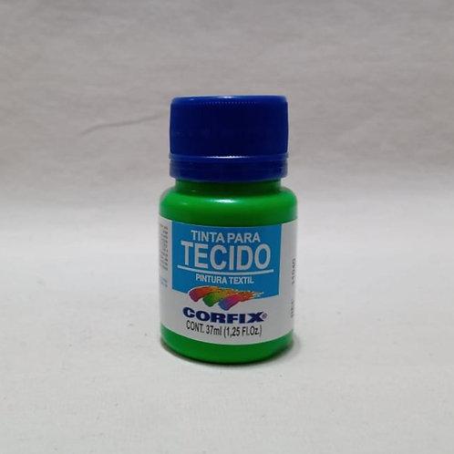 Tinta para Tecido Verde Fluorescente 37 ml