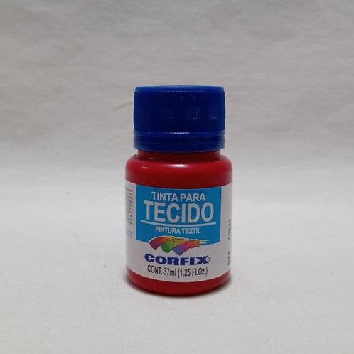 Tinta para Tecido Vermelho Carmim 37 ml