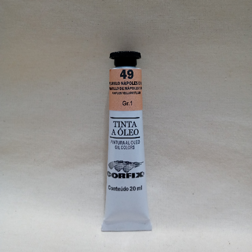 Tinta a Óleo Amarelo Nápoles Carne 20 ml