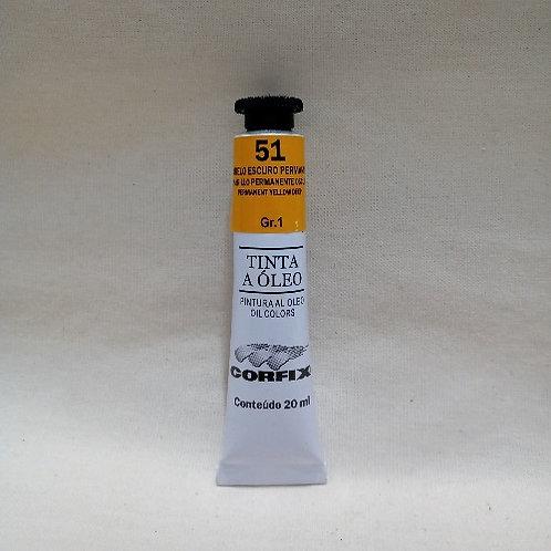 Tinta a Óleo Amarelo Escuro Permanente 20 ml