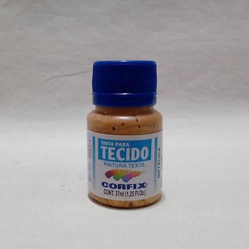 Tinta para Tecido Ouro Metálico 37 ml