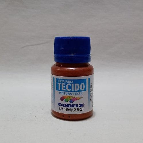 Tinta para Tecido Cobre Metálico 37 ml
