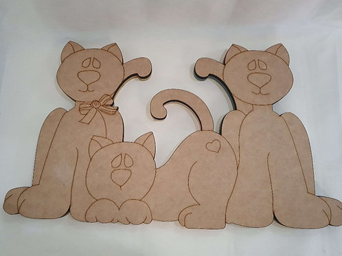 Placa dos Gatos em Mdf
