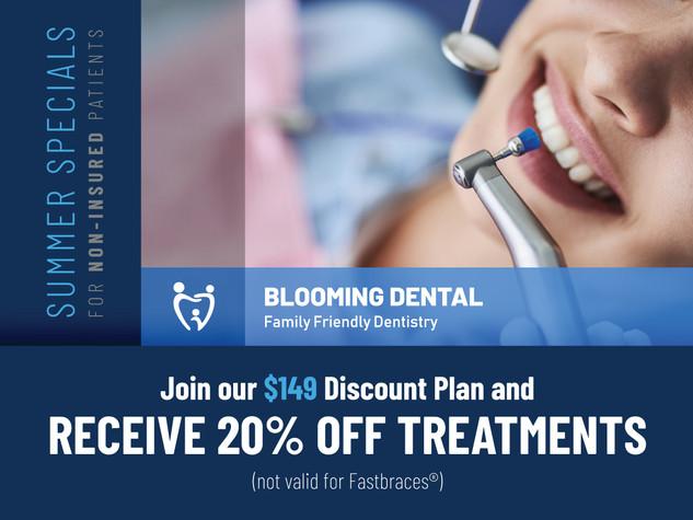 Blooming dental Cedar Park_Summer Specials_$149 Discount Plan.jpg