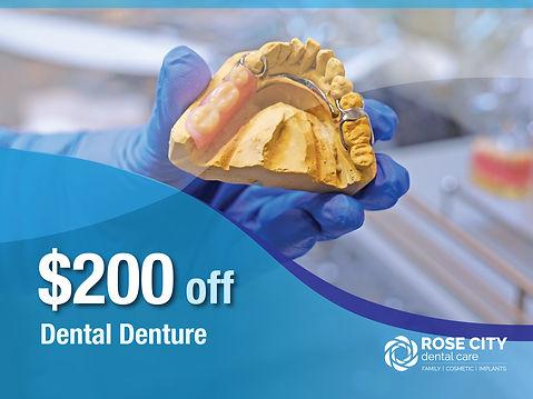 Rose City Dental Care_Nob-Insured New Patient Specials_$200 off Dental Denture.jpg