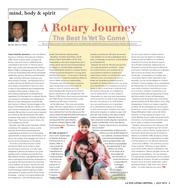 A Rotary Journey