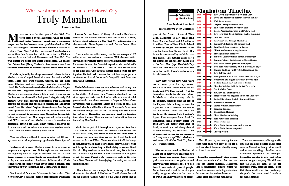 Truly Manhattan Article