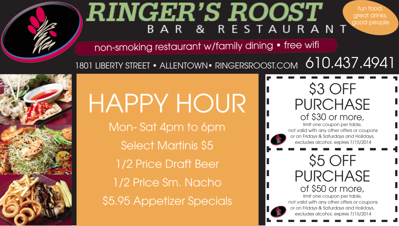 Ringer's Roost Coupon Ad