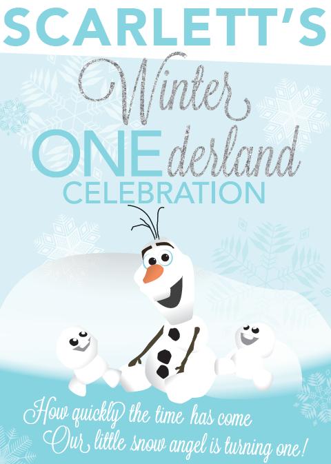 Winter 1derland Birthday Invitation