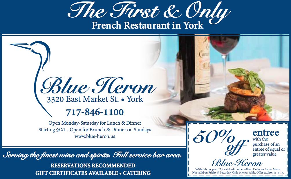 Blue Heron Coupon Ad