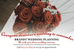 Brandt Wedding Planner Advertisement