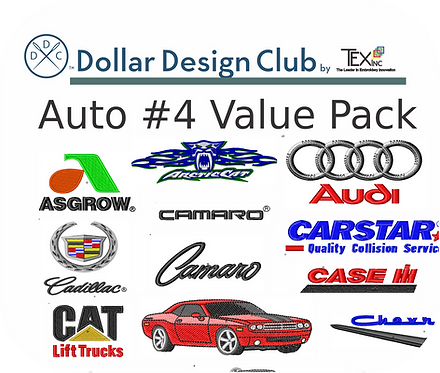 AUTO LOGOS #4 VALUE PACK (45 DIGITIZED FILES)