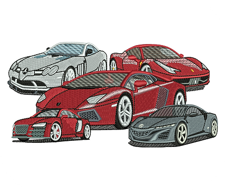 AUTO SUPER CARS VALUE PACK (ALL 14 DESIGNS)