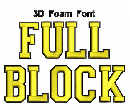 3D FOAM FULL BLOCK FONT 2 COLOR VALUE PACK (ALL 36 DESIGNS)