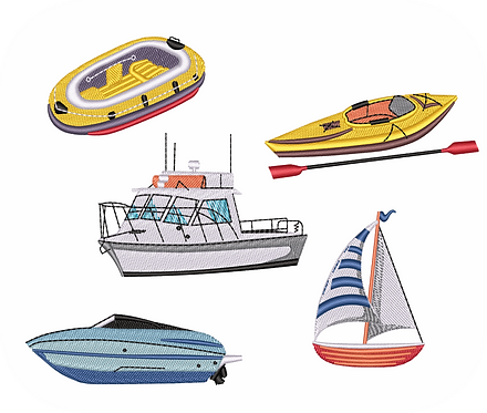 BOAT 1 VALUE PACK (ALL 15 DESIGNS)