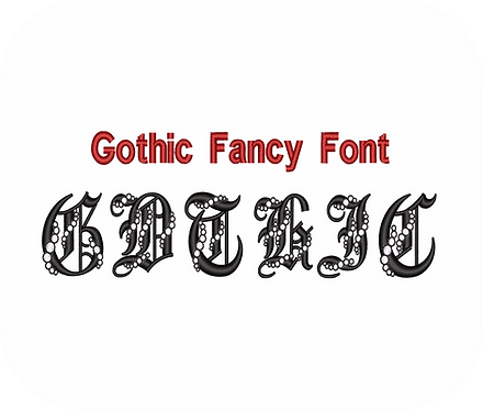 Gothic Fancy Font #1 VALUE PACK (ALL 26 DESIGNS)