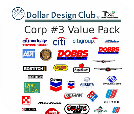CORP LOGOS #3 VALUE PACK (45 DIGITIZED FILES)