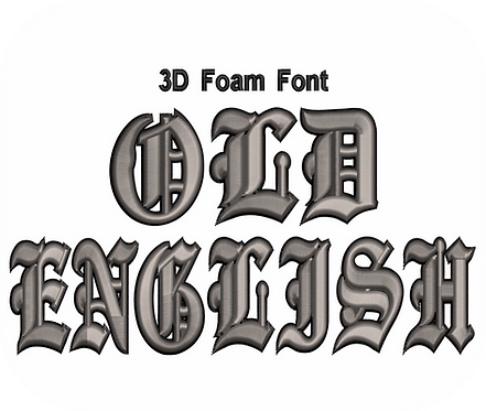 3D FOAM OLD ENGLISH FONT 2 COLOR VALUE PACK (ALL 36 DESIGNS)