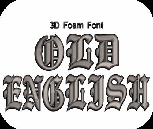Download 3D FOAM OLD ENGLISH FONT 2 COLOR VALUE PACK (ALL 36 ...