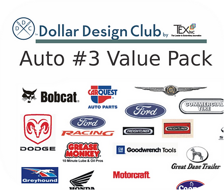 AUTO LOGOS #3 VALUE PACK (45 DIGITIZED FILES)
