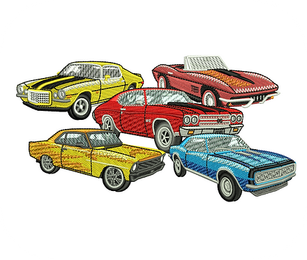 AUTO CHEVY CARS VALUE PACK (ALL 10 DESIGNS)