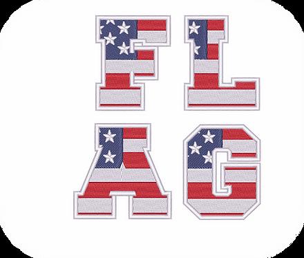 Flag Font #1 VALUE PACK (ALL 26 DESIGNS)