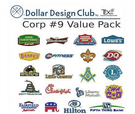 CORP LOGOS #9 VALUE PACK (30 DIGITIZED FILES)