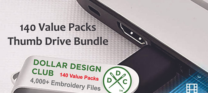 4000+ Embroidery Design Files - 140 Value Pack USB Drive