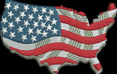 USA SHAPE FLAG