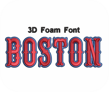 3D FOAM BOSTON FONT 2 COLOR VALUE PACK (ALL 36 DESIGNS)