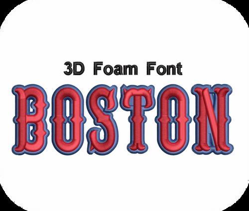 Download 3D FOAM BOSTON FONT 2 COLOR VALUE PACK (ALL 36 DESIGNS ...