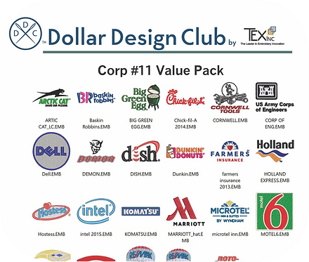 CORP LOGOS #11 VALUE PACK (36 DIGITIZED FILES)