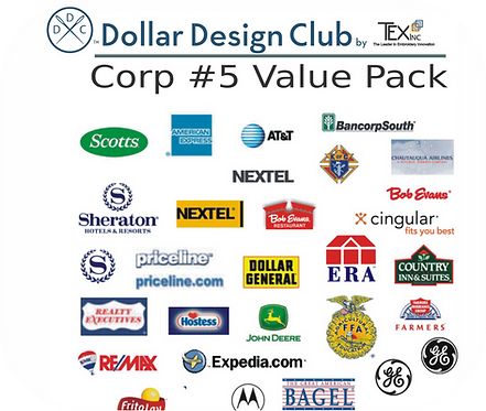 CORP LOGOS #5 VALUE PACK (45 DIGITIZED FILES)