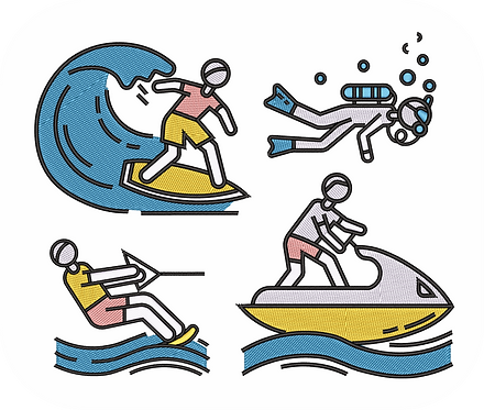 WATER SPORTS 1 VALUE PACK (ALL 12 DESIGNS)
