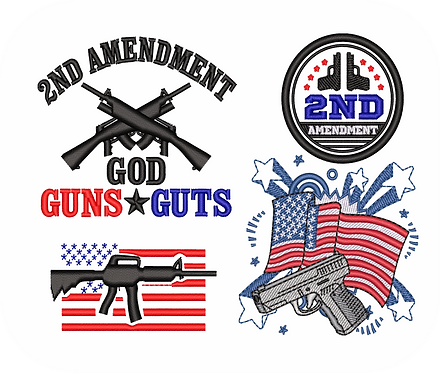 2nd Amend Gun#2  VALUE PACK (ALL 22 DESIGNS)
