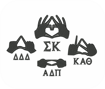 GREEK HAND SIGNS1 VALUE PACK (ALL 22 DESIGNS)