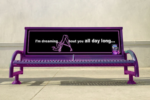 Free Outdoor Advertising Bus Stop Bench