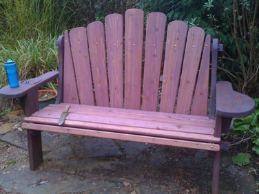 furniture-purple bench