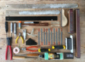 Guitar set up tools. Guitar repair. nut files, levelling beam, music nomad, fret hammer, re fret, fret levelling
