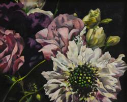 장미1, Oil on canvas, 21.0x26.0cm, 2008