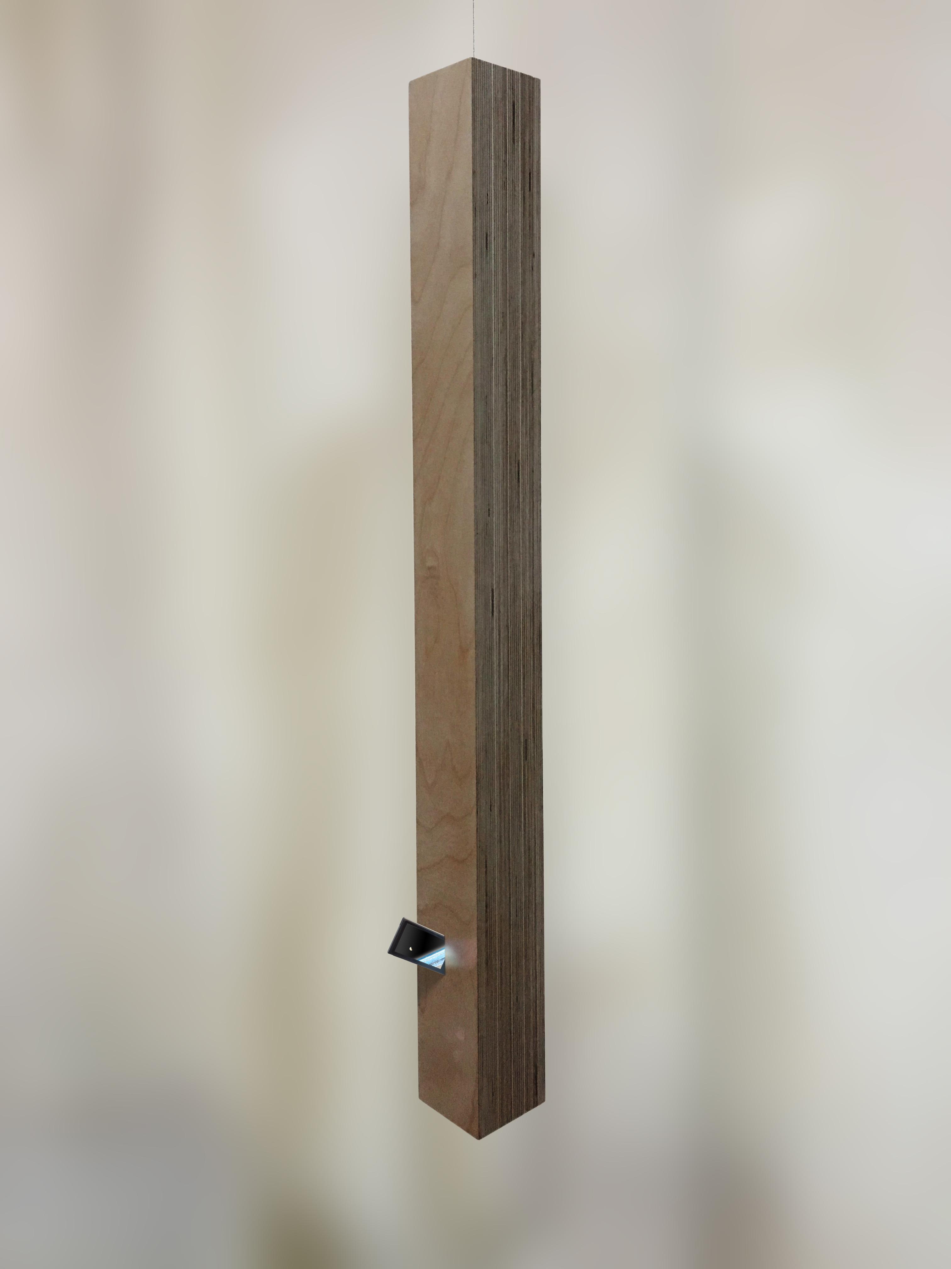 [꽂히다][Stuck] 10x10x100Cm 자작나무합성목,아이팟. 2015