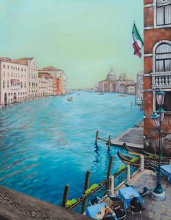 베네치아에서 멈추다, Oil on canvas, 116.x90cm, 2011