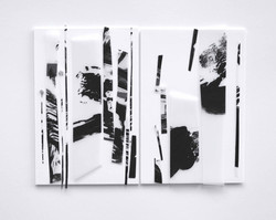 Duo 17-1, 폴리에스테르, 아크릴, 브리스톨, 24x30cm, 2017