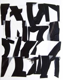 김선자, Black Suite 5, 40x30cm, acrylic on polyester, 2015