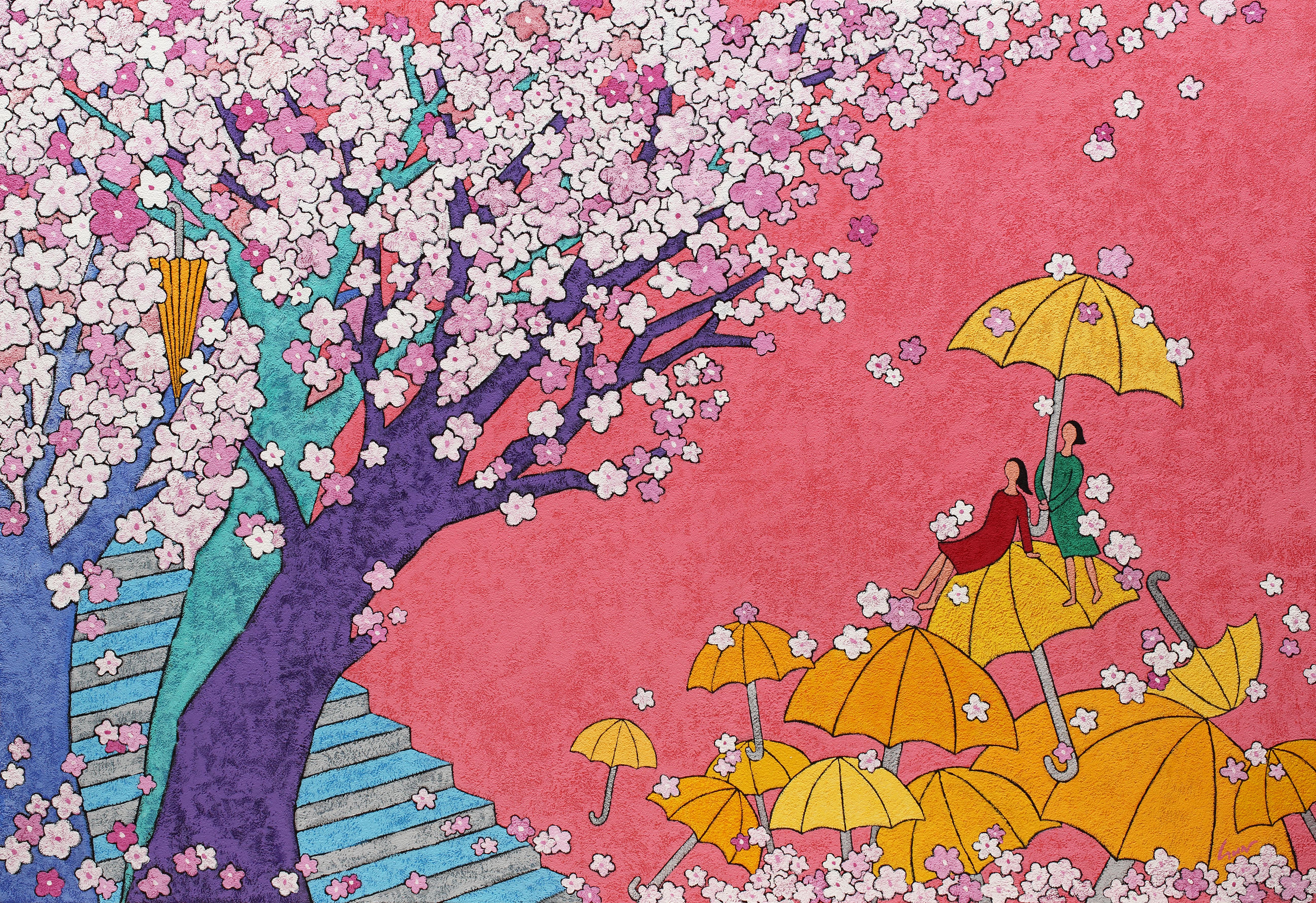 김선옥|봄바람에 꽃비 내리다