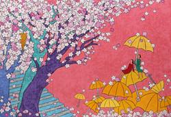 김선옥 봄바람에 꽃비 내리다