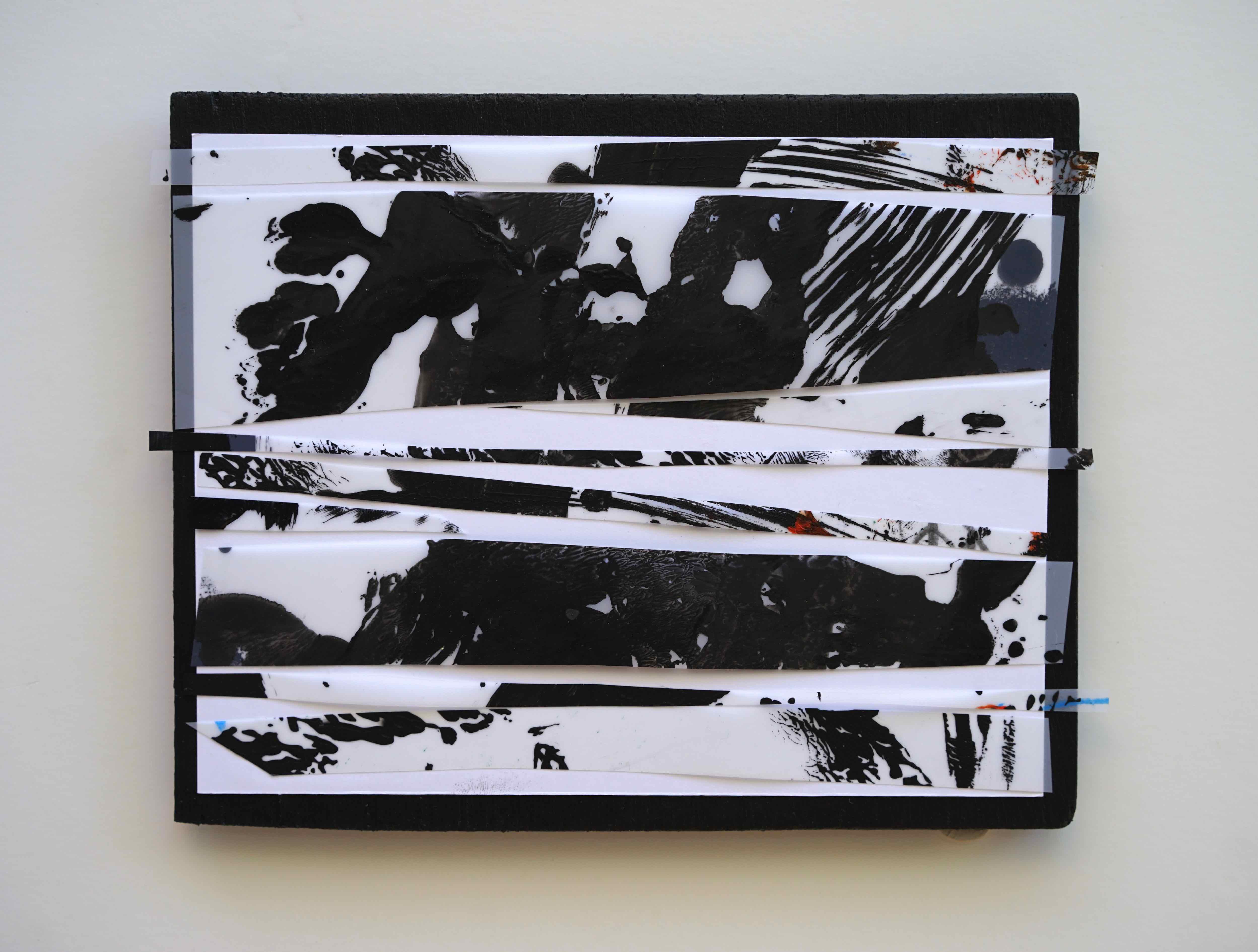 Négatif, 폴리에스테르, 아크릴물감, 브리스톨, 합판, 16x20cm, 2016. jpg